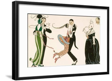 Madness of the Day, Engraved by H. Reidel For Friends of the Journal Des Dames et Des Modes, 1913-Georges Barbier-Framed Art Print