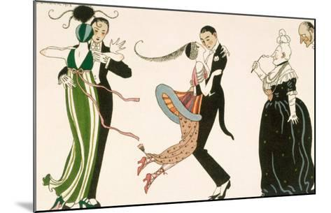 Madness of the Day, Engraved by H. Reidel For Friends of the Journal Des Dames et Des Modes, 1913-Georges Barbier-Mounted Giclee Print