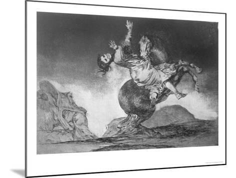 Abducting Horse, Plate 10 of Proverbs, c.1819-23-Francisco de Goya-Mounted Giclee Print