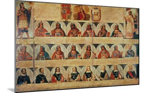Genealogy of the Inca Rulers and Successors: Manco Capac to Ferdinand VI of Spain, c.1750--Mounted Giclee Print