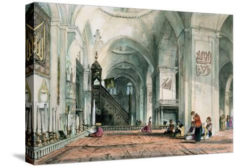 Great Mosque at Brussa, Plate 24, Illustrations of Constantinople, Engraved by Artist, Pub. 1838-John Frederick Lewis-Stretched Canvas Print