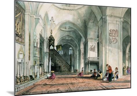 Great Mosque at Brussa, Plate 24, Illustrations of Constantinople, Engraved by Artist, Pub. 1838-John Frederick Lewis-Mounted Giclee Print