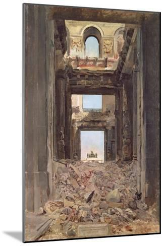 The Ruins of the Tuileries, 1871-Jean-Louis Ernest Meissonier-Mounted Giclee Print