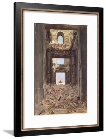 The Ruins of the Tuileries, 1871-Jean-Louis Ernest Meissonier-Framed Art Print