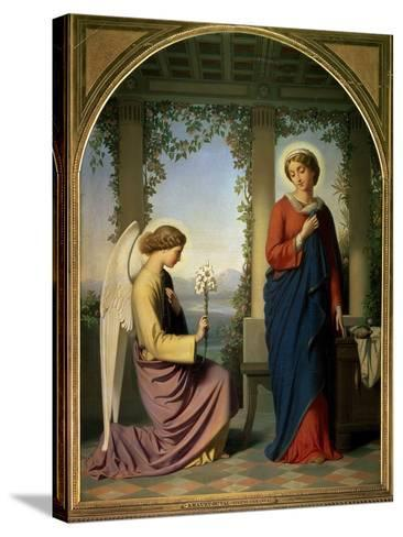 The Angelic Salutation, or the Annunciation, 1860-Eugene Emmanuel Amaury-Duval-Stretched Canvas Print