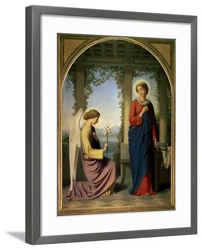 The Angelic Salutation, or the Annunciation, 1860-Eugene Emmanuel Amaury-Duval-Framed Art Print