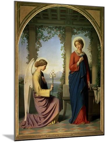 The Angelic Salutation, or the Annunciation, 1860-Eugene Emmanuel Amaury-Duval-Mounted Giclee Print