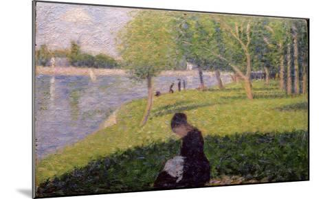 Seamstress, Grande Jatte, A Sunday Afternoon on the Island of La Grande Jatte, c.1884-6-Georges Seurat-Mounted Giclee Print