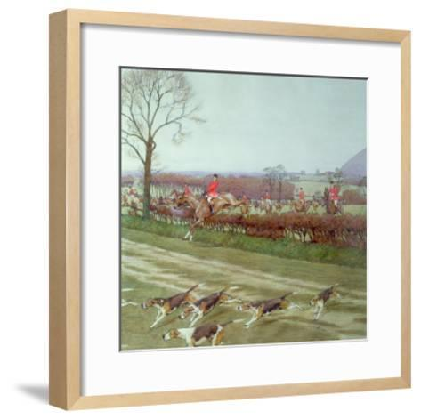 The Cheshire - Away from Tattenhall, 1912-Cecil Aldin-Framed Art Print