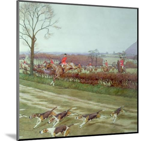The Cheshire - Away from Tattenhall, 1912-Cecil Aldin-Mounted Giclee Print