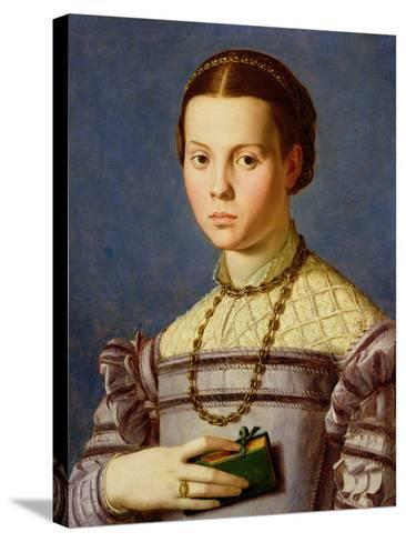 Portrait of a Young Girl Holding a Book c.1545-Agnolo Bronzino-Stretched Canvas Print