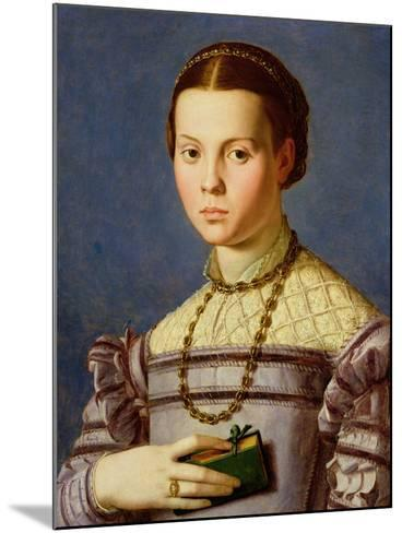 Portrait of a Young Girl Holding a Book c.1545-Agnolo Bronzino-Mounted Giclee Print