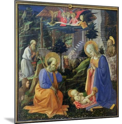 Adoration of the Child with Ss. Hilary, Jerome, Mary Magdalene and Angels-Fra Filippo Lippi-Mounted Giclee Print