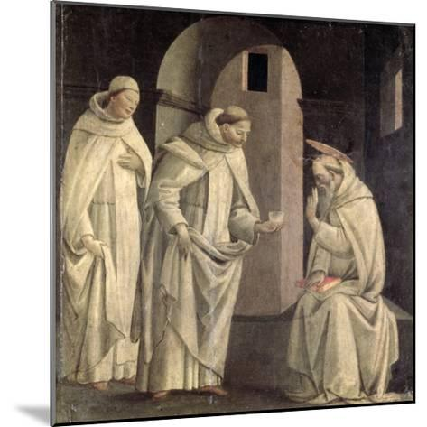 Life of St. Benedict: St. Benedict Blessing the Cup of Poison Which Shatters, c.1488- Bartolomeo Di Giovanni-Mounted Giclee Print