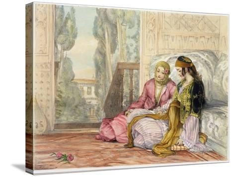 The Harem, Plate 1 from Illustrations of Constantinople, Engraved by the Artist, 1837-John Frederick Lewis-Stretched Canvas Print