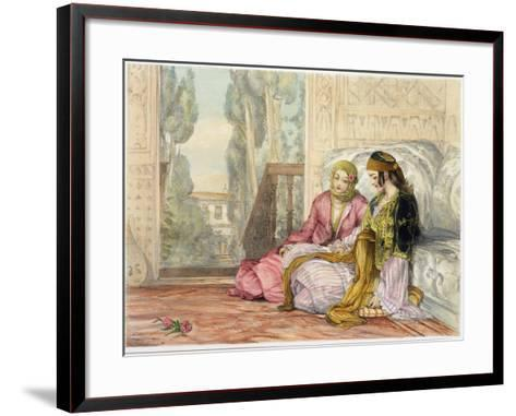 The Harem, Plate 1 from Illustrations of Constantinople, Engraved by the Artist, 1837-John Frederick Lewis-Framed Art Print