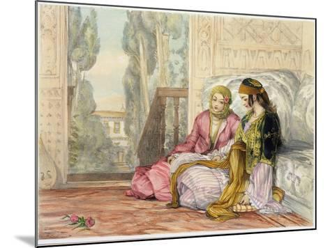 The Harem, Plate 1 from Illustrations of Constantinople, Engraved by the Artist, 1837-John Frederick Lewis-Mounted Giclee Print