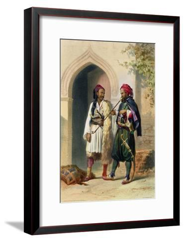 Arnaout and Osmanli Soldiers, Alexandria, the Valley of the Nile, c.1848-Achille-Constant-Th?odore-?mile Prisse d'Avennes-Framed Art Print