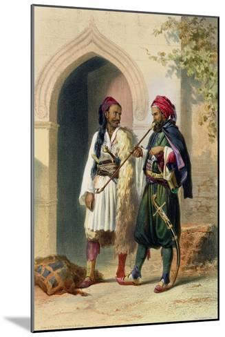 Arnaout and Osmanli Soldiers, Alexandria, the Valley of the Nile, c.1848-Achille-Constant-Th?odore-?mile Prisse d'Avennes-Mounted Giclee Print
