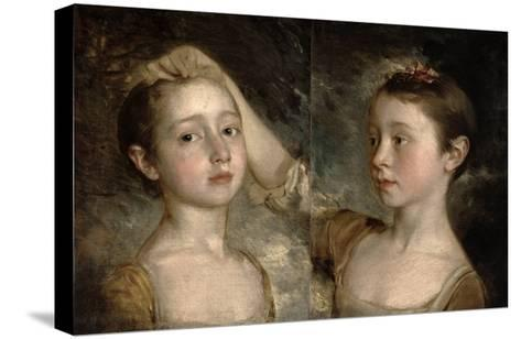 The Painter's Daughters Mary and Margaret, c.1758-Thomas Gainsborough-Stretched Canvas Print