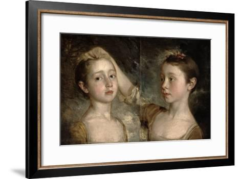 The Painter's Daughters Mary and Margaret, c.1758-Thomas Gainsborough-Framed Art Print