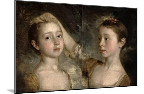 The Painter's Daughters Mary and Margaret, c.1758-Thomas Gainsborough-Mounted Giclee Print