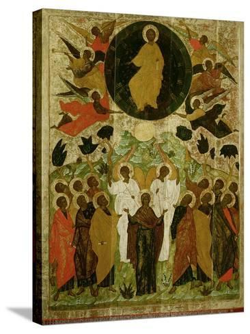 The Ascension of Our Lord, Russian Icon from the Malo-Kirillov Monastery, Novgorod School, 1543--Stretched Canvas Print