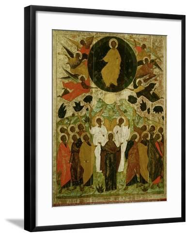 The Ascension of Our Lord, Russian Icon from the Malo-Kirillov Monastery, Novgorod School, 1543--Framed Art Print