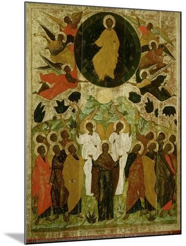 The Ascension of Our Lord, Russian Icon from the Malo-Kirillov Monastery, Novgorod School, 1543--Mounted Giclee Print
