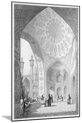 Main Entrance of the Medrese-I-Shah-Hussein, Isfahan, Modern Monuments of Persia-Pascal Xavier Coste-Mounted Giclee Print