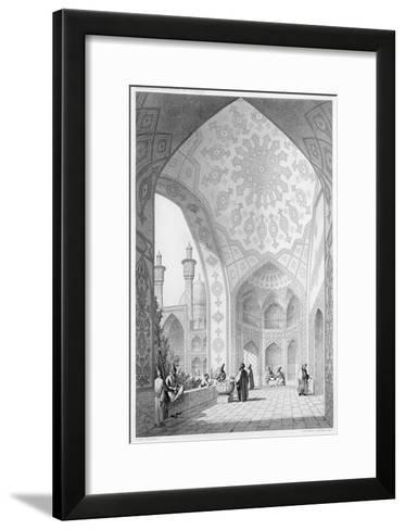 Main Entrance of the Medrese-I-Shah-Hussein, Isfahan, Modern Monuments of Persia-Pascal Xavier Coste-Framed Art Print