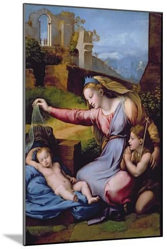 The Madonna of the Blue Diadem or the Madonna of the Veil-Raphael-Mounted Giclee Print