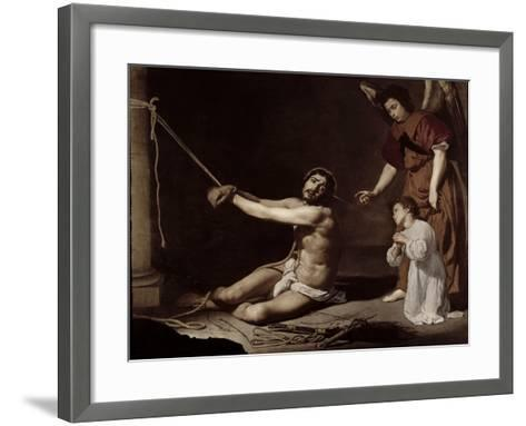 Christ After the Flagellation Contemplated by the Christian Soul, c.1628-9-Diego Velazquez-Framed Art Print