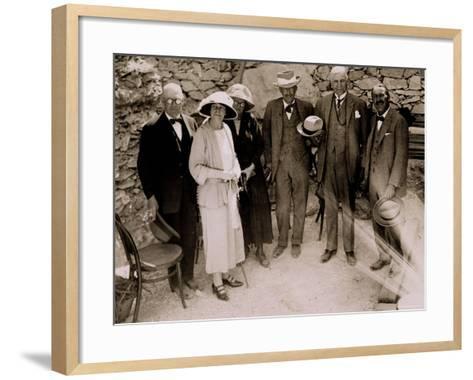 Howard Carter-Harry Burton-Framed Art Print