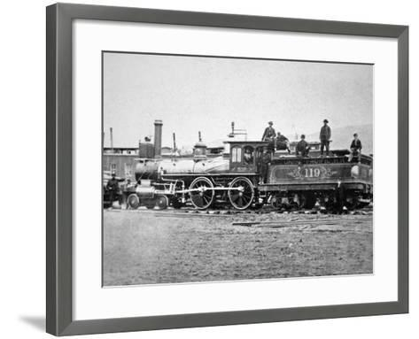 Union Pacific Locomotive No.119 That Pulled the Special Train to the Golden Spike, Utah, c.1869--Framed Art Print