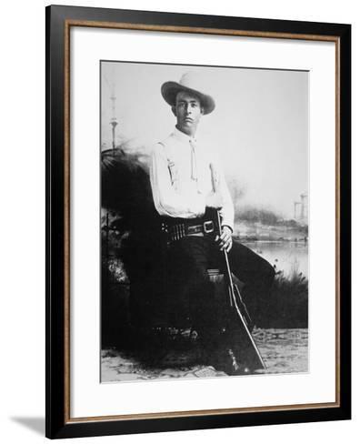 Captain Frank Hamer, c.1910--Framed Art Print