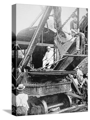 President Theodore Roosevelt, T the Culebra Cut During the Digging of the Panama Canal, 1906--Stretched Canvas Print
