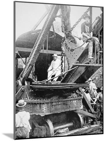President Theodore Roosevelt, T the Culebra Cut During the Digging of the Panama Canal, 1906--Mounted Photographic Print