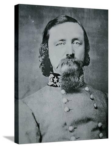 Portrait of General George Pickett--Stretched Canvas Print