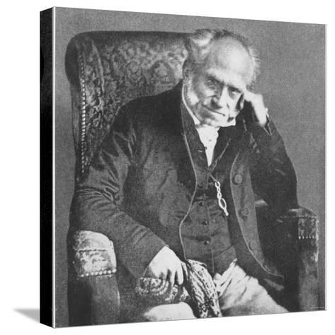 Arthur Schopenhauer, 1854--Stretched Canvas Print