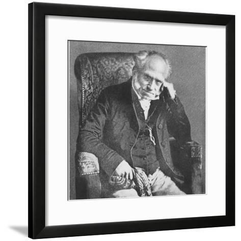 Arthur Schopenhauer, 1854--Framed Art Print
