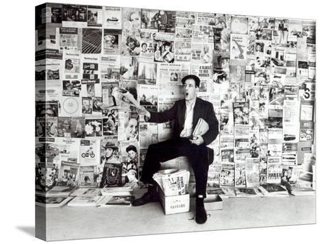 Newspaper Salesman, c.1960-English Photographer-Stretched Canvas Print