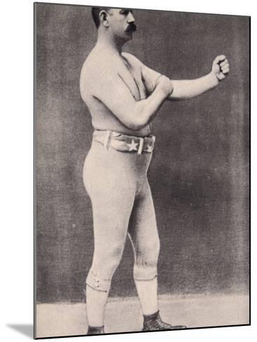 John L. Sullivan--Mounted Photographic Print