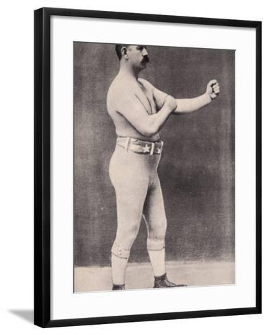 John L. Sullivan--Framed Art Print