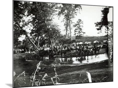 Federal Battery Fording a Tributary of Rappahannock, Battle Day, Cedar Mountain, Virginia, 1862--Mounted Photographic Print