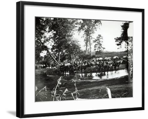 Federal Battery Fording a Tributary of Rappahannock, Battle Day, Cedar Mountain, Virginia, 1862--Framed Art Print