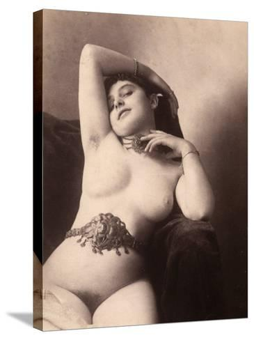 Portrait of a Nude Woman with a Belt--Stretched Canvas Print