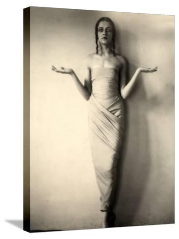 Portrait of Jia Ruskaja, Prima Ballerina of the Teatro Della Scala in Milan--Stretched Canvas Print