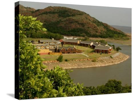 The Quartz Mountain Lodge in Lone Wolf, Oklahoma, Pictured on April 30, 2003-Sue Ogrocki-Stretched Canvas Print