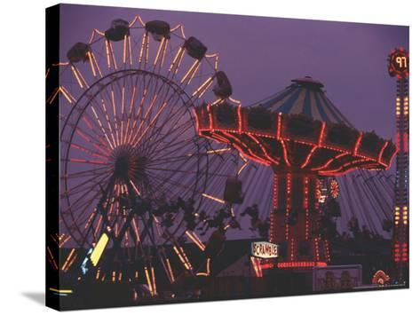 The Popular Midway Section of the New York State Fair-Michael Okoniewski-Stretched Canvas Print